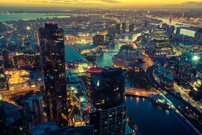 Things to do in Melbourne - Eureka SkyDeck City Skyline